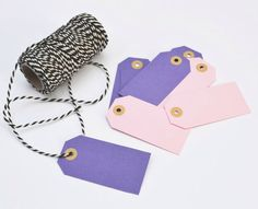 Purple and Light Pink Parcel Tags Papers Co, Carousel, Purple, Pink, Etsy Seller, Wallet, Tags, Pocket Wallet, Purple Stuff