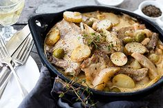 Pears with pork chops and olives – Recipes – Bite