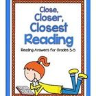 """Teaching students how to read closely empowers them to become independent learners. """"Close, Closer, Closest"""" offers reading solutions for grades 3-5..."""