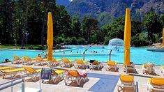 Lavey les Bains Outdoor Hot Water Pools near Lake Geneva - The Hottest Thermal Source in Switzerland