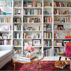 Outstanding home decor advice info are offered on our internet site. Take a look and you wont be sorry you did. Closet Layout, Farmhouse Side Table, Built In Bookcase, Bookcases, Painted Bookshelves, Home Upgrades, Bedroom Layouts, Organizing Your Home, Cool Rooms