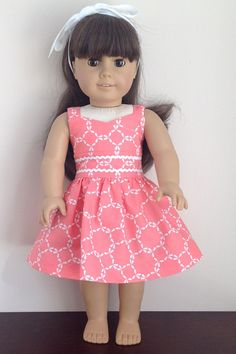 d2081e6be63f Fits like American Girl Clothes or Fits Like American Girl Doll Dress - 18  inch doll clothes 18 inch doll dress