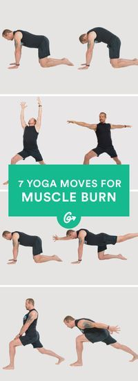 7 Yoga Moves for the Most Intense Muscle Burn Ever (Really!) #yoga #exercise #health http://greatist.com/move/ddp-beefcake-yoga-workout