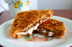 Grilled deep fried smores ~