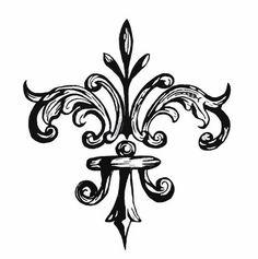 fleur de lis tattoo design tatouage pinterest fleur de lys fleur de lis et lys. Black Bedroom Furniture Sets. Home Design Ideas
