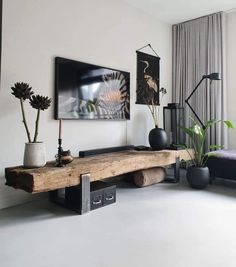 The most popular home items from - De meest populaire woonitems van great furniture from railway sleepers! Indian Living Rooms, Living Room Tv, Living Room Interior, Home Interior Design, Home And Living, Home Decor Furniture, House Rooms, Room Inspiration, Living Room Designs