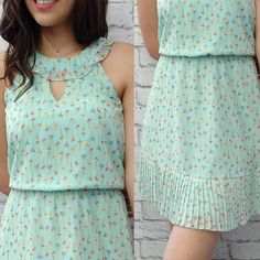 Green dress like this one Stylish Dresses, Simple Dresses, Cute Dresses, Casual Dresses, Short Dresses, Frock Fashion, Fashion Dresses, Casual Frocks, Girls Frock Design