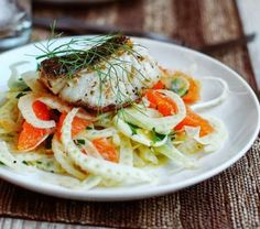Seared Sea Bass with Fennel and Orange [RECIPE]
