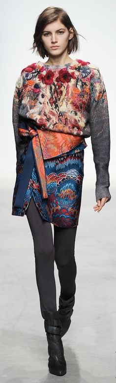 Léonard RTW F/W 2014-2015 / floral / #mizustyle i was looking for color!
