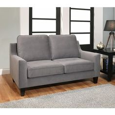 Shop for ABBYSON LIVING Jackson Grey Fabric Loveseat. Get free shipping at Overstock.com - Your Online Furniture Outlet Store! Get 5% in rewards with Club O!