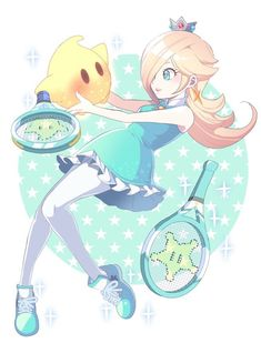 Rosalina and Luma, Tennis Partners Super Mario Bros, Super Mario Kunst, Super Mario Brothers, Super Smash Bros, Super Mario Princess, Nintendo Princess, Mario And Luigi, Mario Kart, Luma Mario
