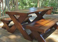 Welcome to the website of Ana White, your source for great DIY furniture and woodworking projects. Choose from a variety of great free woodworking plans! Picnic Table Bench, Patio Table, Diy Table, Outdoor Dining, Outdoor Tables, Outdoor Decor, Outside Furniture, Outdoor Furniture, Modern Furniture