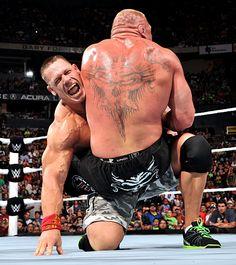 Night Of Champions 2014 John Cena Vs Brock Lesnar WWE World Heavyweight Championship