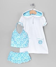 Take a look at this Blue & White Tankini & Cover-Up - Infant by Cabana Life Kids on #zulily today!