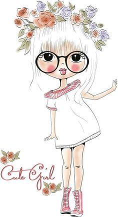 Une fille belle Gratuit PNG et Vecteur Illustration Mignonne, Illustration Girl, Girl Illustrations, Girl Cartoon, Cute Cartoon, Cartoon Mignon, Art Mignon, Clip Art, Big Eyes