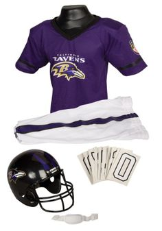 NFL Baltimore Ravens Deluxe Youth Uniform Set Raven Halloween Costume 660f4255fd6