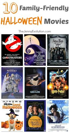 10 family friendly Halloween movies. Hellow #HalloweenMovieNight!