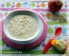 Getreide-Obst-Brei als Zwischenmahlzeit am Vor- oder Nachmittag kann mit unserem Rezept ganz einfach aus beliebigen Obst und Getreide selbstgemacht werden