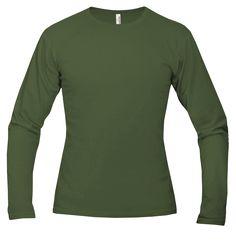 Tričko Forest Green dlouhý rukáv 102