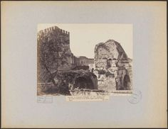 Mura Aureliane e Arco di Druso 1886