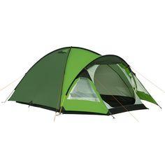 Tente dôme 3 arceaux, pour 2 personnes, spacieuse, avec une grande chambre intérieure avace prolongement dans l'avancée.  La tente intérieure peut rester solidaire du double-toit et être ainsi montée à l'abri lors d'un montage par temps pluvieux.