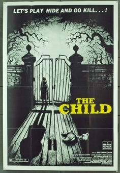 Very cool, creepy artwork!  THE CHILD horror movie poster. Retro Vintage Awesome.