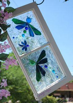 window art by Lynn Gillis   love love love this!