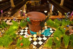 Mad Hatter Cake From the Alice in Wonderland Wedding at the Hotel Boulderado (Photo by Frances Photography)