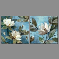 15 Best Ideas for wall painting flowers art ideas Wall Painting Flowers, Acrylic Flowers, Acrylic Art, Acrylic Painting Canvas, Canvas Art, Blue Canvas, Painting Walls, Floral Paintings, Canvas Ideas