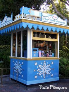 This kiosk was originally Fantasyland's main ticket booth back when they used ticket booths it was located tight next to  King Arthur's Carasel