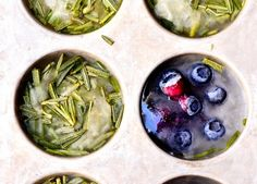 Herb preservation: how to freeze herbs. Flash-freezing herbs, freezing herbs in ice cubes, freezing herbs in olive oil, freezing herbs in butter.