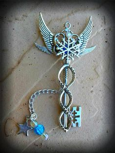 North Star Fantasy Key by ArtbyStarlaMoore on Etsy, $25.00