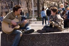 Evan meeting his dad without realizing it and then playing guitar together...  I love this movie