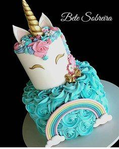 31 ideas for birthday cake girls Birthday Cake Girls, Unicorn Birthday Parties, Unicorn Party, 5th Birthday, Birthday Ideas, Fete Laurent, Unicorn Foods, Unicorn Cakes, Girl Cakes