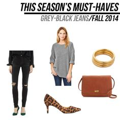 jillgg's good life (for less)   a style blog: fall must haves 2014: grey-black jeans!