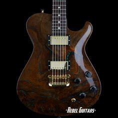 Knaggs Guitars Tier 3 Kenai in Walnut with Chrysocolla Stone Inlays
