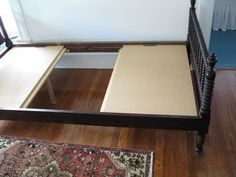 for some beds using a boxspring makes the mattress too high, this is a great alternative using mdf and adding  a few braces for support