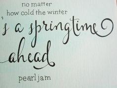 Egal wie kalt der Winter gibt es ein Frühling von WordswhenSpoken