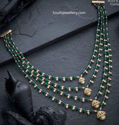 Jewellery Designs - Latest Indian Jewellery Designs 2019 ~ 22 Carat Gold Jewellery one gram gold Indian Jewelry Sets, Indian Jewellery Design, Bead Jewellery, Jewelry Design, Latest Jewellery, Bridal Jewellery, Jewelry Necklaces, Pearl Necklace Designs, Gold Earrings Designs