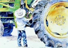 country boy, this will be Grayson lol running after Chris or my dad around tractors!