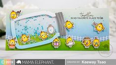 Mama Elephant Stamp Highlight: Little Chickie Agenda – Kiwi Koncepts Mama Elephant Stamps, Elephant Design, Design Blog, Foam Crafts, Scrapbook Cards, Scrapbooking, Cute Cards, Pretty Cards, Animal Party