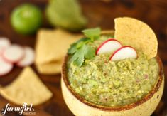tangy roasted tomatillo guacamole - from a farmgirl's dabbles