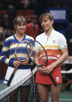 Chrissie and Martina, circa 1981, at the height of one of the greatest rivalries ever seen.