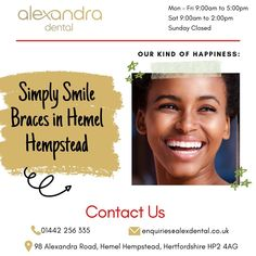 Orthodontist at Alexandra Dental Practice offers Simply Smile Braces in Hemel Hempstead, an ideal solution that is a discreet and aesthetic alternative to traditional braces in delivering a beautiful smile on your face. Space Between Teeth, Teeth Alignment, Hemel Hempstead, Increase Confidence, Self Conscious, Orthodontics, Beautiful Smile, Braces