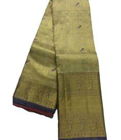 Off White Handloom Kanjeevaram Silk Saree