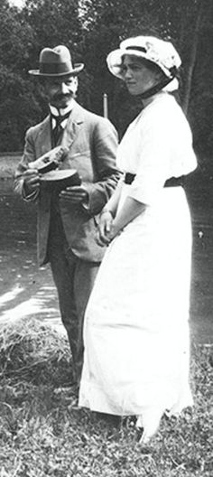 Maria and her tutor Pierre Gilliard