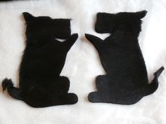 8 Inch Scottie Dog Applique Kit, Faux Fur Sweater Decoration, Child Size - For your Ugly Sweater or Scotty Dog Collection!