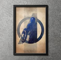 Giclee Art Print 'Avengers Assembled: The Soldier' sur Etsy, $23.81 CAD