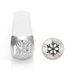 Snow Flake Design Stamp, 6mm perfect in combination with the smaller 3mm snow flake stamp in my shop , use it for metal stamping , jewelry making ,