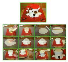 Xmas Dog Cake. It is created by http://www.facebook.com/Tartacadabra. step by step instructions    http://tartacadabra.blogspot.com.es/2011/11/perrito-de-navidad.html